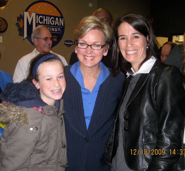 Susan Schechter, Director of Advocacy in Michigan and daughter with Governor Granholm.