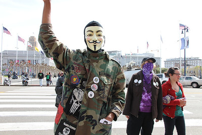 The spirit of anonymous was also present.