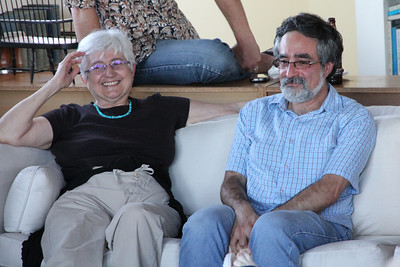 Left to right: Judith, Aaron Peskin.