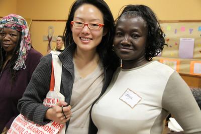 Left to right: Jane Kim, District 6 Supervisor. LaTonya Jones, Tenant Organizer.