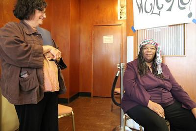 """Left, Ann Ameling, City of Refuge United Church of Christ Pastor. Right, Elaine """"Mother"""" Jones, Tenant Organizer."""