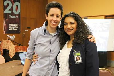 Left, Krista Gaeta, Deputy director of the Tenderloin Housing Clinic (THC).  Right, Beatrice Montenegro.