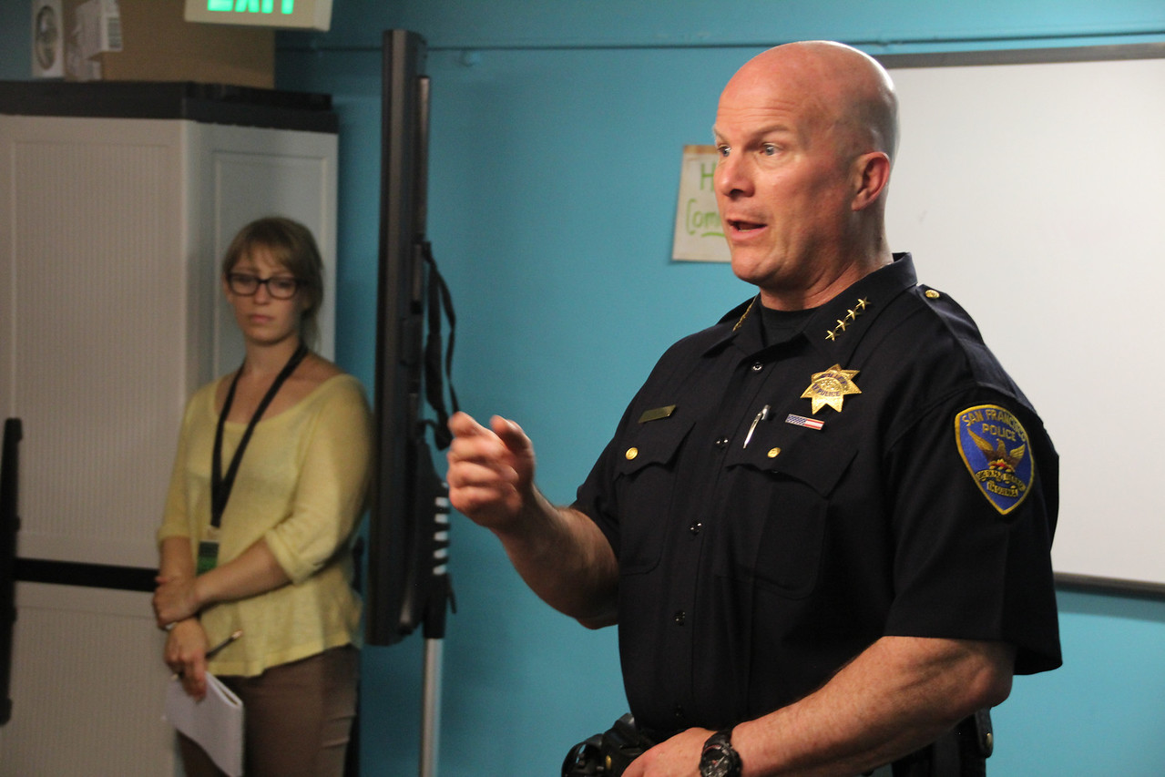 Greg Suhr, Chief of Police, answers questions from the community.  June 27th, 2013, Central City SRO Collaborative, 48 Turk Street, San Francisco.    Learn more at: http://www.ccsro.org/  #ChiefSuhr  #SFPD  #Tenderloin  #GregSuhr #PoliceChiefGregSuhr