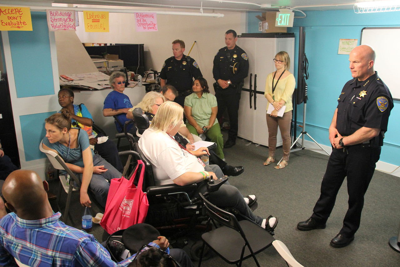 Greg Suhr, Chief of Police, answers questions from the community.  June 27th, 2013, Central City SRO Collaborative, 48 Turk Street, San Francisco.    http://www.ccsro.org/  ___________HASTAGS:  #ChiefSuhr  #SFPD  #Tenderloin  #GregSuhr #PoliceChiefGregSuhr