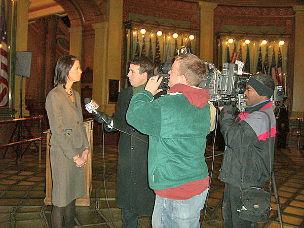 Susan Schechter interview with WILX TV 10 Lansing/Jackson and WJRT/ABC12.