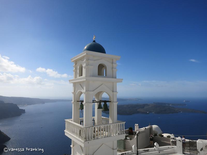 Bell tower in Santorini