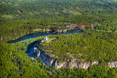 From a plane over Mohonk Mountain House, New Paltz, New York, USA