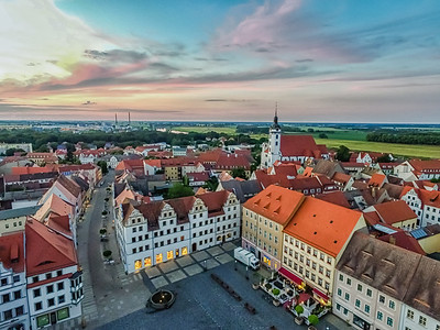 Torgau at Sunset in Germany