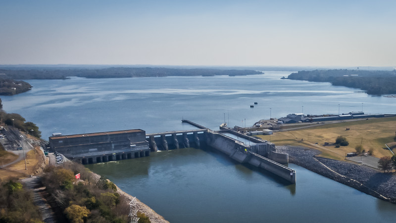 Flying over Berry Hill and Old Hickory Dam - November 14, 2016