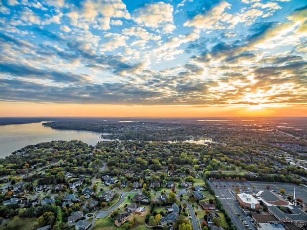 Sunset over Hendersonville - October 30, 2016