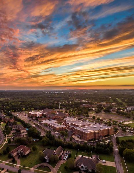 Sunset over Hendersonville - September 26, 2016