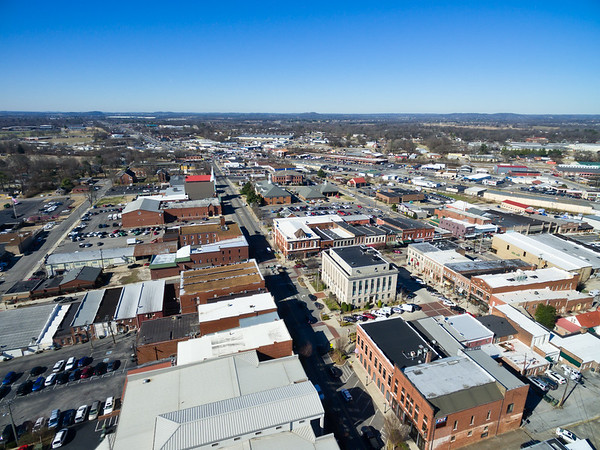 Downtown Gallatin and TVA Steam Plant - February 17, 2017