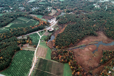 The wetlands on the lower right are protected from development by Londonderry open space they lead to Adams Pond a great place to Canoe!