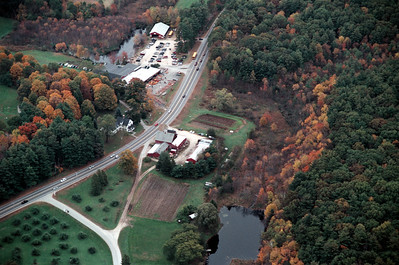 About 50 barns are left in town, at the center is Mac\'s barn complex in use every day.