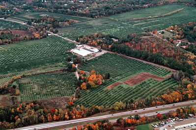 Coming into view nearly the entire north section of Woodmont Orchards the top right hand side at the top is Kit Lane, Kim Ave and Spring Road neighborhoods.  Total acres in the farm is about 264, this does not include the Sears Essentials property.