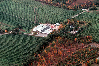 "One of the first ever built the building in the center is a controlled atmosphere storage facility. Construction started in the late 1950's by William ""Bill"" Lievens, a expert and president of both the New Hampshire Fruit Growers and the New York - New England Apple Institute."