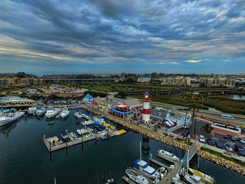 Oceanside Harbor aerial