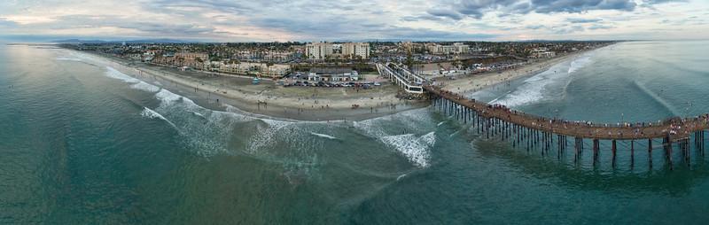 Oceanside Pier aerial #20
