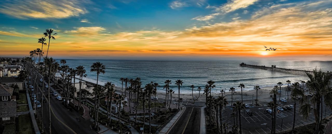Sunset Fantasy in Oceanside