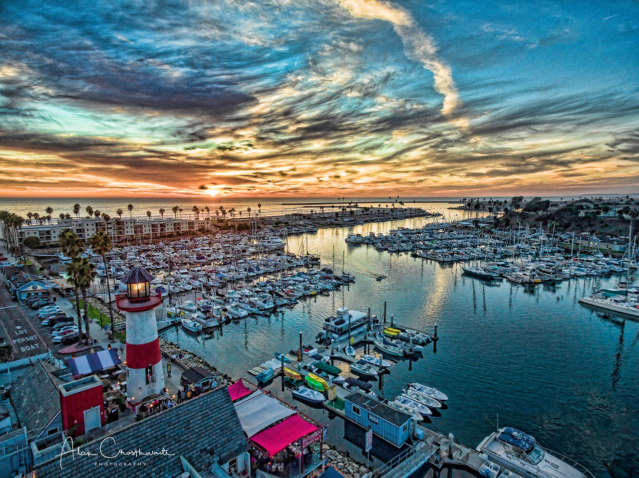 Sunset at the Oceanside Harbor