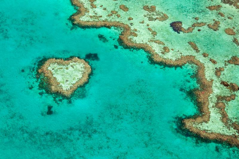 Heart Reef Aerial View