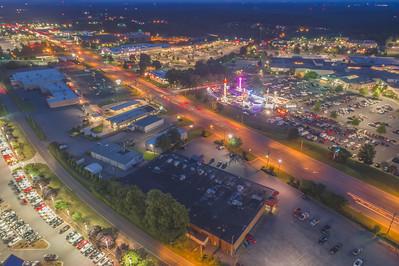 Aerial Night Photos | Hickory, NC