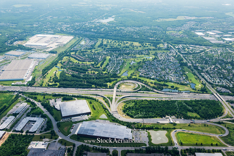 Aerial Photography of NJ Turnpike Exit 8A