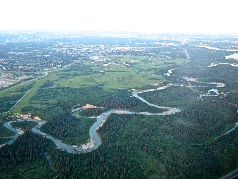 Elbow River above the Weaselhead looking N-E