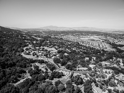 Aerial Scenery. Highway seen is Interstate 680. Augustin Bernal Park - Pleasanton, CA, USA