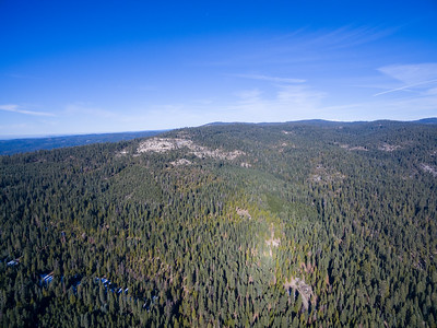 Aerial Scenery. State Route 88. Eldorado National Forest, CA, USA