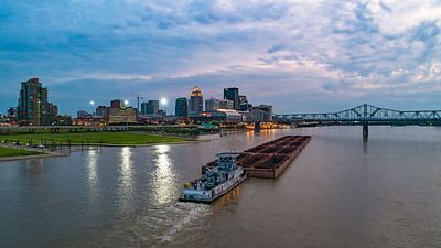 Louisville and a Barge