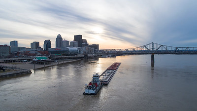 Barge and Louisville Skyline