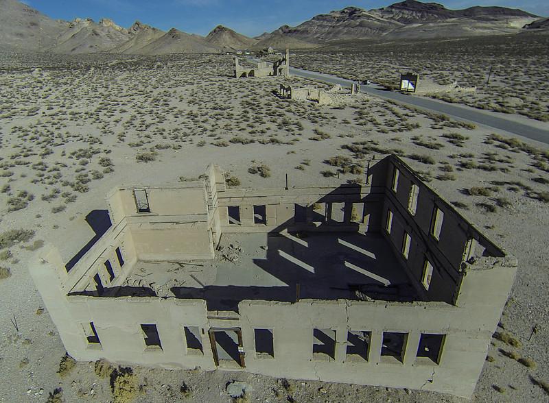 016 Rhyolite school building, built 1909, Rhyolite, NV