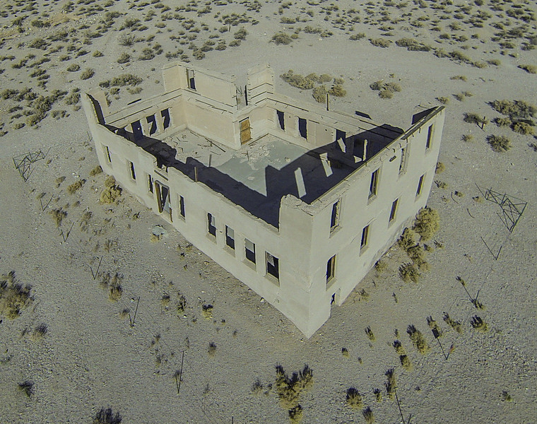 017 Rhyolite school building, built 1909, Rhyolite, NV