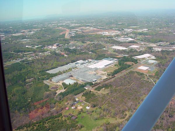 Aerial Photos - Catawba Valley Medical Center - Conover & Hickory, NC April 2003