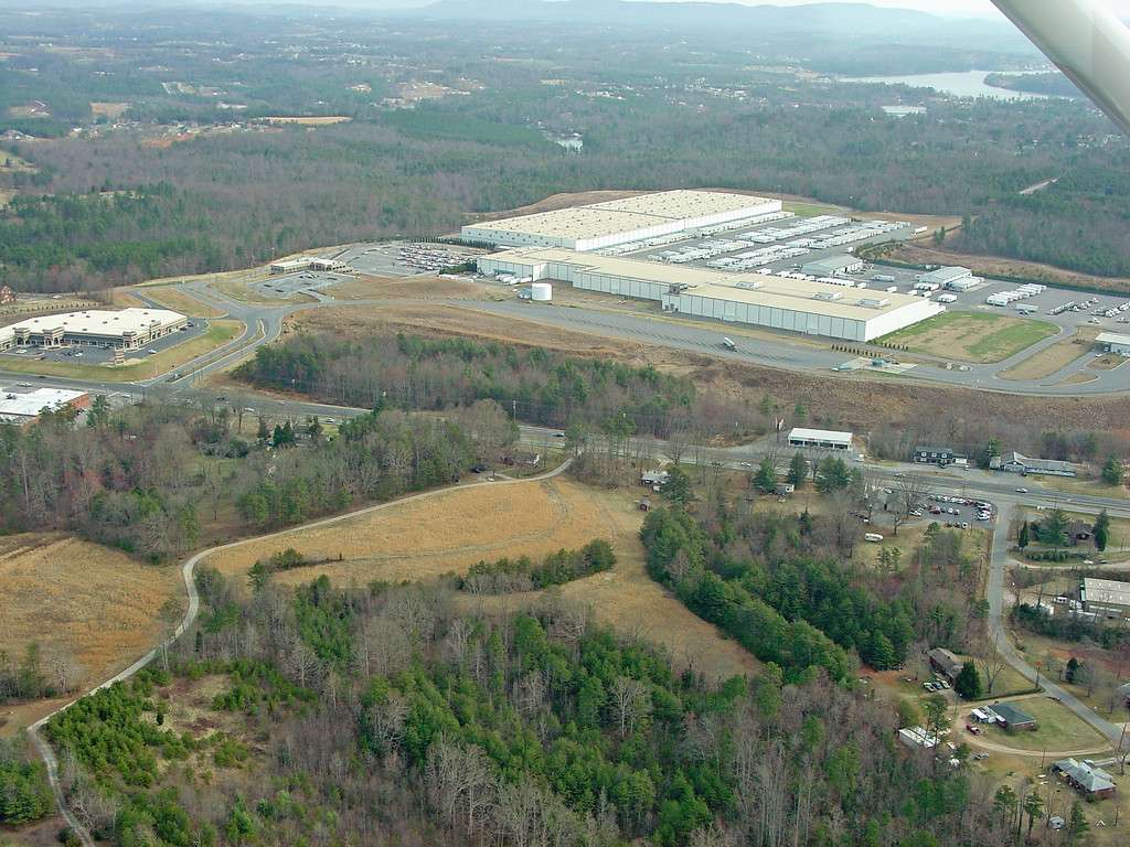 Hickory, NC - NorthWest - across river - MDI Plant - Highway 321 - Midway Sand Road, Pooveys Grove Church Road
