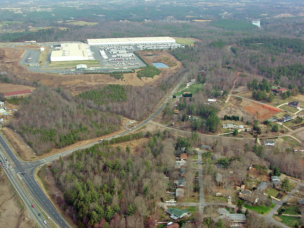 Hickory, NC - North of the River - Grace Chapel Road and Highway 321 - MDI Plant in the Distance - Also Wolfe Road