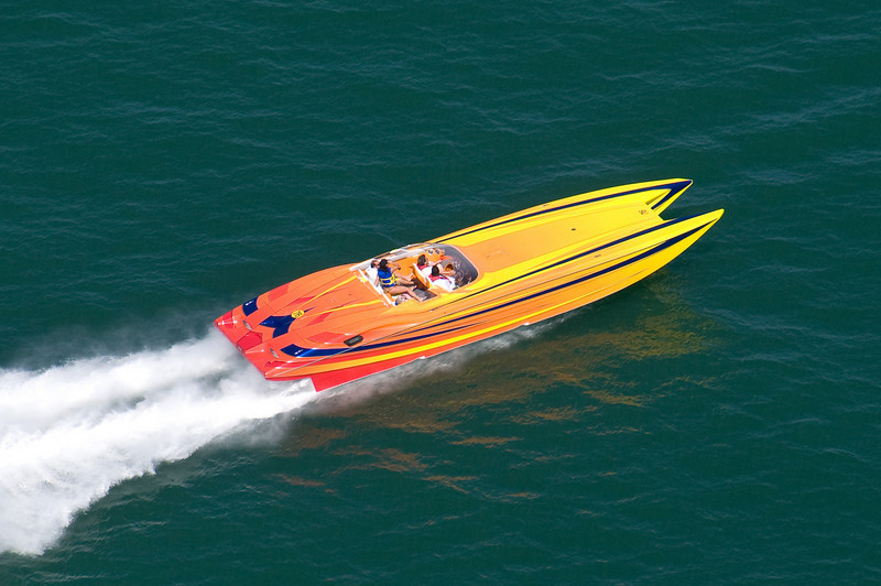 This boat was going over 100MPH!  It took us a few minutes to catch it!