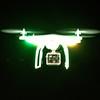 DJI Phantom multirotor night test flight