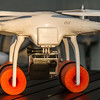 DJI Phantom UAV with GoPro HERO 3 Black Series camera and over-water floats.