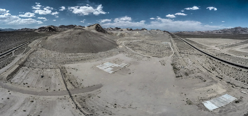 050 Remains of the Barrick Bullfrog Mine near Beatty.  (14 images)