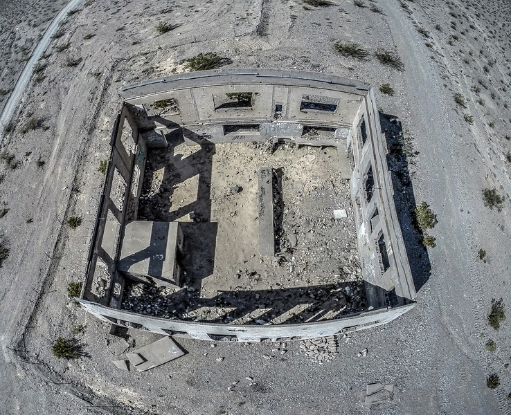 036 Remains of the Elizalde Cement Company facility built in 1936 near Beatty. (5 images)