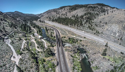 122 Truckee River and Southern Pacific Railroad, Verdi, Nevada