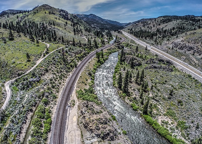 123 Truckee River and Southern Pacific Railroad, Verdi, Nevada