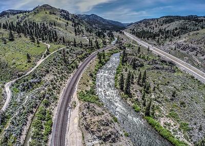 123 Truckee River and Southern Pacific Railroad, Verdi, Nevada