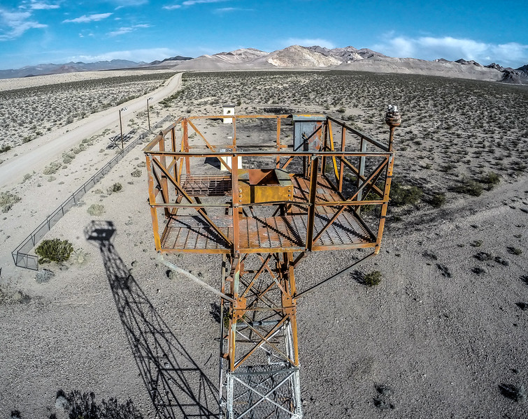 044 Abandoned airway beacon tower near Beatty.