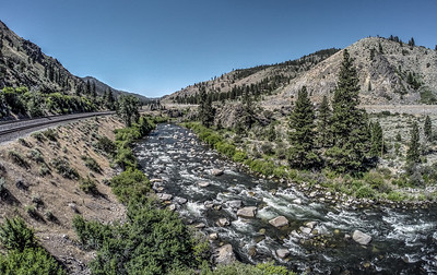 124 Truckee River and Southern Pacific Railroad, Verdi, Nevada