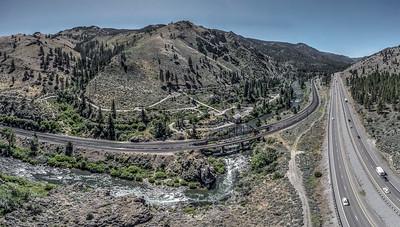 121 Truckee River and Southern Pacific Railroad, Verdi, Nevada