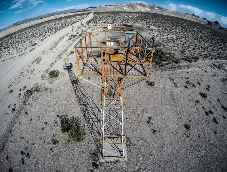 045 Abandoned airway beacon tower near Beatty.