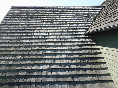 13. Shake roof detail, rear, north side
